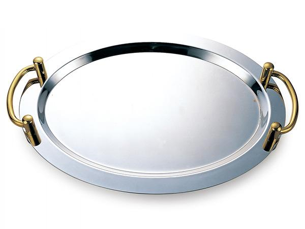 G type oval mirror finish stainless steel serving tray YFG06-3