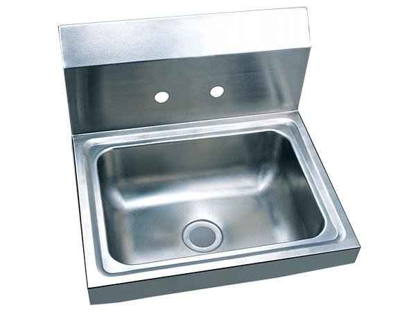 Wall mount stainless steel kitchen sink