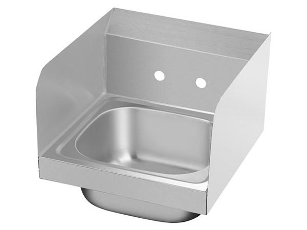 Wall mount kitchen sink with baffle